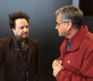 Giorgio Tsoukalos, left, and I